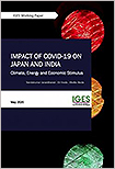 """""""Impact of COVID-19 on Japan and India: Climate, Energy and Economic Stimulus"""""""