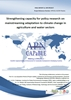Strengthening Capacity for Policy Research on Mainstreaming Adaptation to Climate Change in Agriculture and Water Sectors