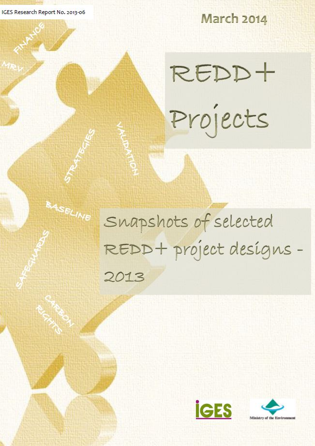 REDD+ projects: Snapshots of REDD+ project designs  - 2013