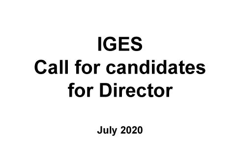 IGES Call for candidates for Director