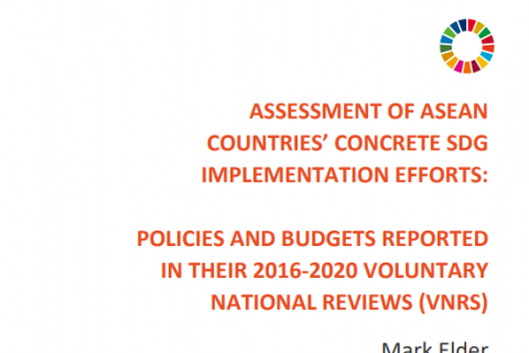 Assessment of ASEAN Countries' Concrete SDG Implementation Efforts: Policies and Budgets Reported in Their 2016-2020 Voluntary National Reviews (VNRs)