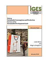 Making Sustainable Consumption and Production the Core of the Sustainable Development Goals