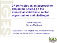 3R principles as an approach to designing NAMAs on the municipal solid waste sector: opportunities and challenges