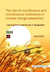 The role of microfinance and microfinance institutions in climate change adaptation: Learning from experiences in Bangladesh