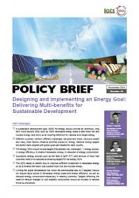 Designing and Implementing an Energy Goal: Delivering Multi-benefits for Sustainable Development