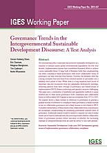 Governance Trends in the Intergovernmental Sustainable Development Discourse: A Text Analysis