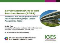 Environmental Goods and Services Sector (EGSS): Economic and Employment Impact Assessment Using Input-Output Analysis for Japan