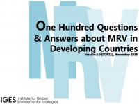 One Hundred Questions & Answers about MRV in Developing Countries