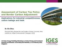 Assessment of Carbon Tax Policy and Border Carbon Adjustment: Implications for industrial competitiveness, carbon leakage and trade