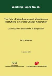 The Role of Microfinance and Microfinance Institutions in Climate Change Adaptation