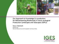 Our Approach to Knowledge Co-production for Mainstreaming Biodiversity in Socio-ecological Production Landscapes and Seascapes (SEPLS)