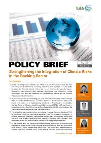 Strengthening the Integration o of Climate Risks in the Banking Sector cover