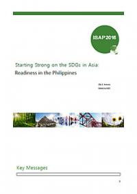 Starting Strong on the SDGs in Asia: Readiness in the Philippines