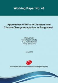 Approaches of MFIs to Disasters and Climate Change Adaptation in Bangladesh