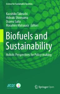 Biofuels and Sustainability book cover