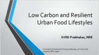 Low carbon resilient urban food systems
