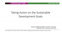 Taking Action on the SDGs