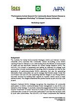 """Participatory Action Research for Community Based Natural Resource Management Workshop"" in Vietnam Forestry University: Workshop Report"
