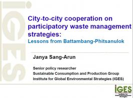 City-to-city cooperation on participatory waste management strategies:  Lessons from Battambang-Phitsanulok