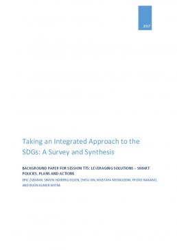 Taking an Integrated Approach to the SDGs: A Survey and Synthesis Cover